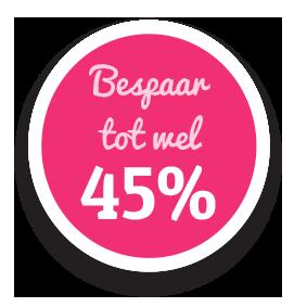 bespaar tot wel 45%